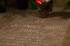 Tomb of Antonio Gaudi Stock Photography