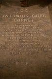 Tomb of Antonio Gaudi Royalty Free Stock Photo