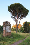 Tomb by Appian Way (Via Appia) in Rome, Italy. Via Appia Antica (Old Appian Way) was once one of the world's most important roads and the most famous of all the Royalty Free Stock Photo