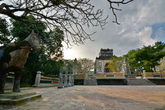 The tomb area. Tomb of Tu Duc. Hué. Vietnam Stock Photo