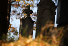 Tomb in autumn Stock Image