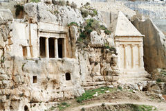 Tomb av Zechariah och Tomb av pork arkivfoto