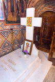 Tomb of the Bulgarian Patriarch Maxim in the temple of the Troyan Monastery royalty free stock image