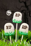 Tomb cake pops Royalty Free Stock Photos