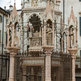 The tomb of Cansignorio, one of five gothic Scaliger Tombs, or Arche Scaligeri, in Verona Royalty Free Stock Photos