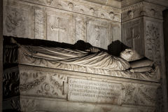 Tomb of the cardinals Cristoforo and Domenico della Rovere 1479. Santa Maria del Popolo Church Royalty Free Stock Image
