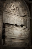 Tomb of the cardinals Cristoforo and Domenico della Rovere 1479. Santa Maria del Popolo Church Stock Images