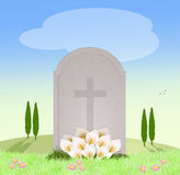 Tomb in the cemetery Stock Image