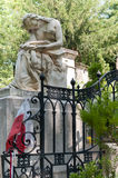 Tomb of Chopin. Chopin's tomb in Pere LaChaise Cemetery in Paris, France Stock Images