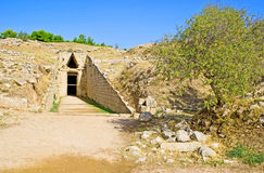 The Tomb of Clytemnestra. The wife of king Agamemnon, the leader of the Greeks against the Trojans in Trojan War, Mycenae, Greece Stock Image