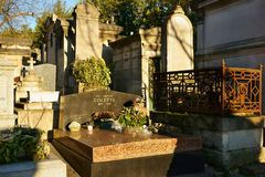 Tomb of Colette French Novelist Royalty Free Stock Image