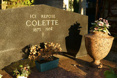 Tomb of Colette French Novelist Royalty Free Stock Photos