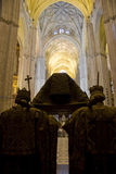 Tomb of Columbus, Seville Cathedral. The Tomb of Christopher Columbus in Seville Cathedral stock photo