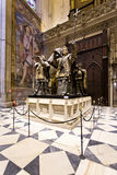 Tomb of Cristoforo Colombo in Seville Cathedral, Andalusia, stock photography