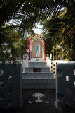 The tomb of the Croatian Jesuit missionary Ante Gabrić in Kumrokhali, India. The tomb of the Croatian Jesuit missionary Ante Gabric behind the Catholic Church Stock Photography