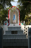 The tomb of the Croatian Jesuit missionary Ante Gabrić in Kumrokhali, West Bengal, India. The tomb of the Croatian Jesuit missionary Ante Gabrić behind the Royalty Free Stock Images