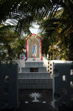 The tomb of the Croatian Jesuit missionary Ante Gabrić in Kumrokhali, West Bengal, India. The tomb of the Croatian Jesuit missionary Ante Gabrić behind the Royalty Free Stock Photography