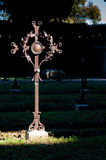 Tomb cross on Aquileia graveyard Stock Photos