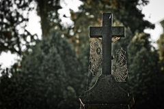 Tomb cross Royalty Free Stock Photos