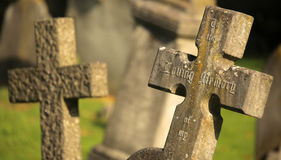 Tomb Crosses Stock Images