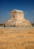 Tomb of Cyrus in Pasargadae of Iran Against Blue Sky Royalty Free Stock Photography