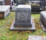 Tomb with death's head. Tomb with death's head symbol Royalty Free Stock Photos