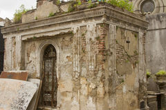 Tomb in disrepair, Recoleta Cemetery, Buenos Aires, Argentina. Crypt in disrepair and neglect in Recoleta Cemetery, Buenos Aires, Argentina Stock Photo