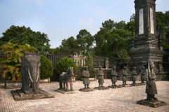 The tomb of Emperor Khai Dinh in Hue, Vietnam Royalty Free Stock Images