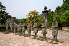 The tomb of Emperor Khai Dinh in Hue, Vietnam Royalty Free Stock Photo
