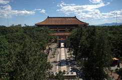 Tomb of Emperor Yongle of Ming dynasty, Changping, China. Tomb of Emperor Yongle of Ming dynasty in Changping, China royalty free stock photography