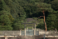 Tomb of Empress Shoken, Kyoto, Japan Royalty Free Stock Images