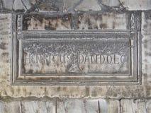 Tomb of Enrico Dandolo in Hagia Sofia. Hagia Sophia, Istanbul, Turkey, october 08, 2013, Memorial plaque mentioned in Inferno, a thriller by Dan Brown in his Stock Photos