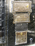 Tomb of Eva Peron, Evita, the famous first lady of Argentina Royalty Free Stock Images