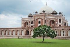 tomb för delhi humayunindia s trappa Royaltyfria Bilder