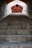 tomb för delhi humayunindia s trappa Arkivbild