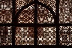 tomb för sikri för marmor för fatehpurindia galler Arkivfoto