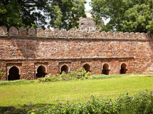 tomb för sten för nya ramparts för delhi india lodi sikandar arkivfoton