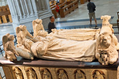 Tomb of Francis II, Duke of Brittany, Nantes. NANTES, FRANCE - JULY 29, 2014: Tomb of Francis II, Duke of Brittany in Cathedral of St. Peter and Paul. Tomb was Stock Image
