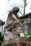 Tomb of Frederic Chopin, famous Polish composer, at Pere Lachaise cemetery in Paris, France royalty free stock photos