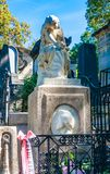 Tomb of Frederic Chopin, famous Polish composer, at Pere Lachaise cemetery in Paris, stock photos