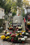 Tomb of Frederic Chopin Pere Lachaise cemetery in Paris Stock Images
