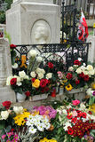Tomb of Frederic Chopin at Pere Lachaise cemetery in Paris Stock Photos
