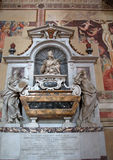 Tomb of Galileo Galilei in Basilica of Santa Croce, Florence Stock Photo