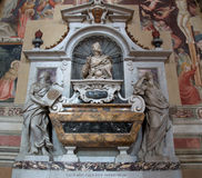 Tomb of Galileo Galilei in Basilica of Santa Croce, Florence Royalty Free Stock Photo