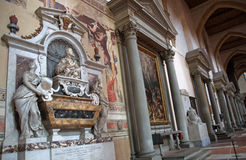 Tomb of Galileo Galilei in Basilica of Santa Croce, Florence Stock Photography