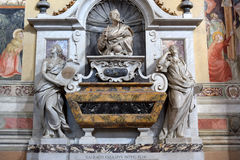 Tomb of Galileo Galilei in Santa Croce basilica, Florence Stock Photos
