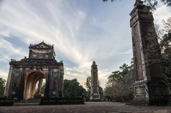Tomb and gardens of Tu Duc emperor in Hue, Vietnam royalty free stock photos