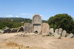 The tomb of giants S'ena and Thomes. Near Dorgali on the island of Sardinia, Italy Royalty Free Stock Photo
