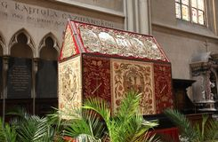 Tomb of God, exhibited on Holy Saturday in Zagreb Cathedral Stock Image