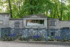 Tomb of the Goethe family. In Weimar royalty free stock photo